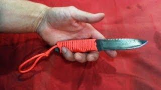 $1 DOLLAR HOMEMADE KNIFE!!! from a broken hacksaw blade