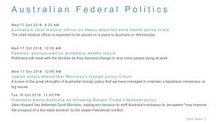 Political News Headlines for 17 Oct 2018 - 6 PM Edition