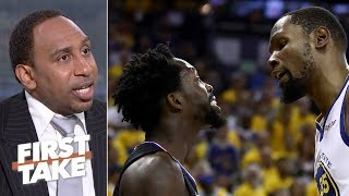 Kevin Durant has 'gotta watch himself' after Game 1 ejection - Stephen A. | First Take