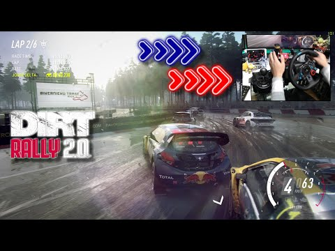 PEUGEOT 208 WRX Rallycross Latvia WET / Logitech G29 DiRT Rally 2.0 DLC