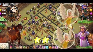 CLASH OF CLAN ANTI 3 STAR ON TH10.5=TH11 WAR BASE LAVALOON ATTACK    BY CLASH OF CLAN WAR BASE 2018
