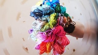 50 оттенков цветного. Мулине, нитки для вышивки крестиком.(Ссылки на товары — http://ali.pub/djbvi (без выбора цвета) http://ali.pub/k5u62 (с выбором цвета) Группа вк с разнообразными..., 2015-12-18T10:28:56.000Z)