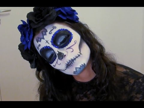 Half Squeleton FACE PAINTING , MAQUILLAGE POUR ENFANTS HALLOWEEN, Squelette  , Maquillage facile , Skeleton Make Up
