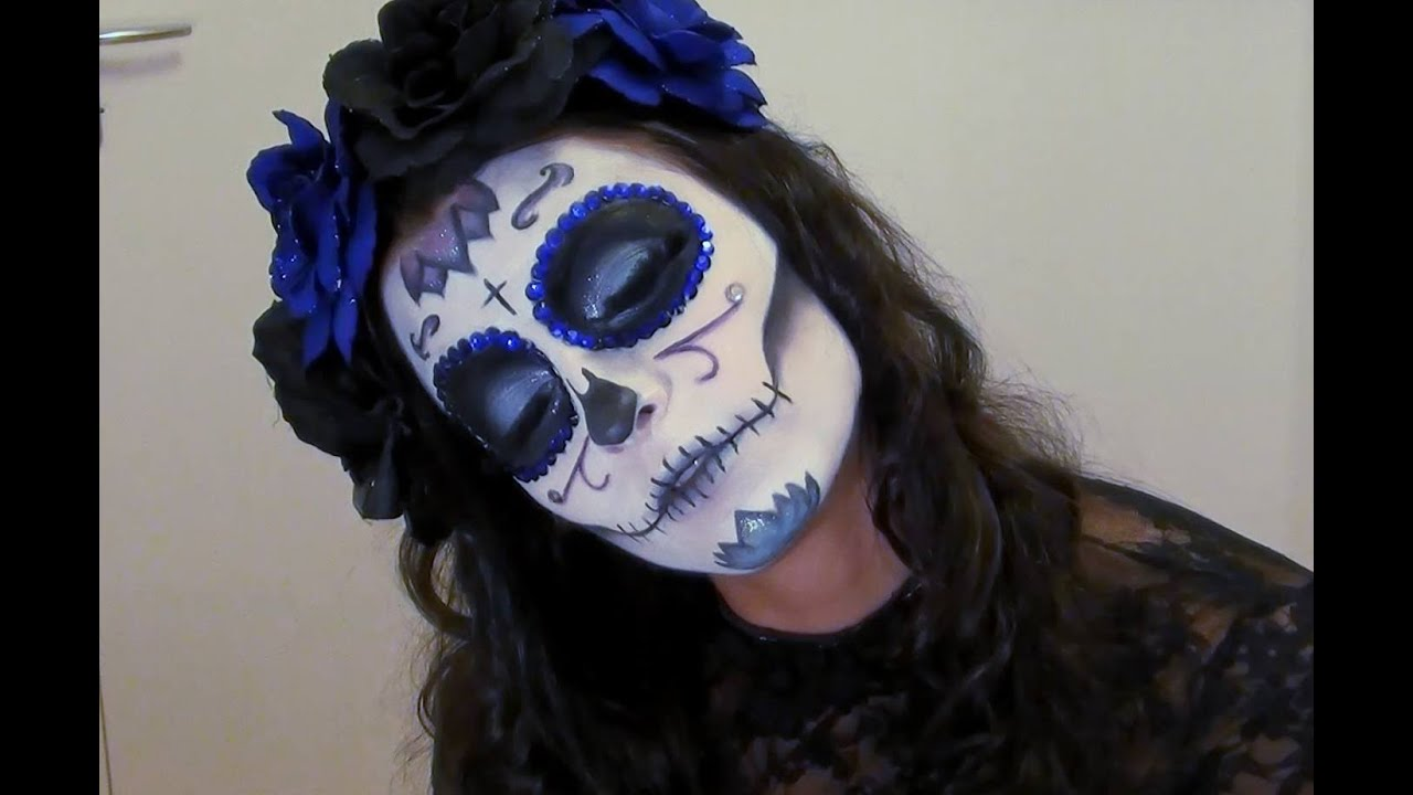 Halloween tuto maquillage sugar skull youtube - Maquillage mexicain facile ...