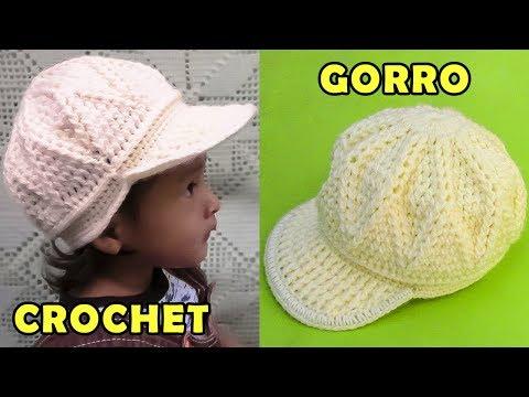 Gorra con vicera tejido a crochet para niños de 1 a 3 años cbb4422bda4