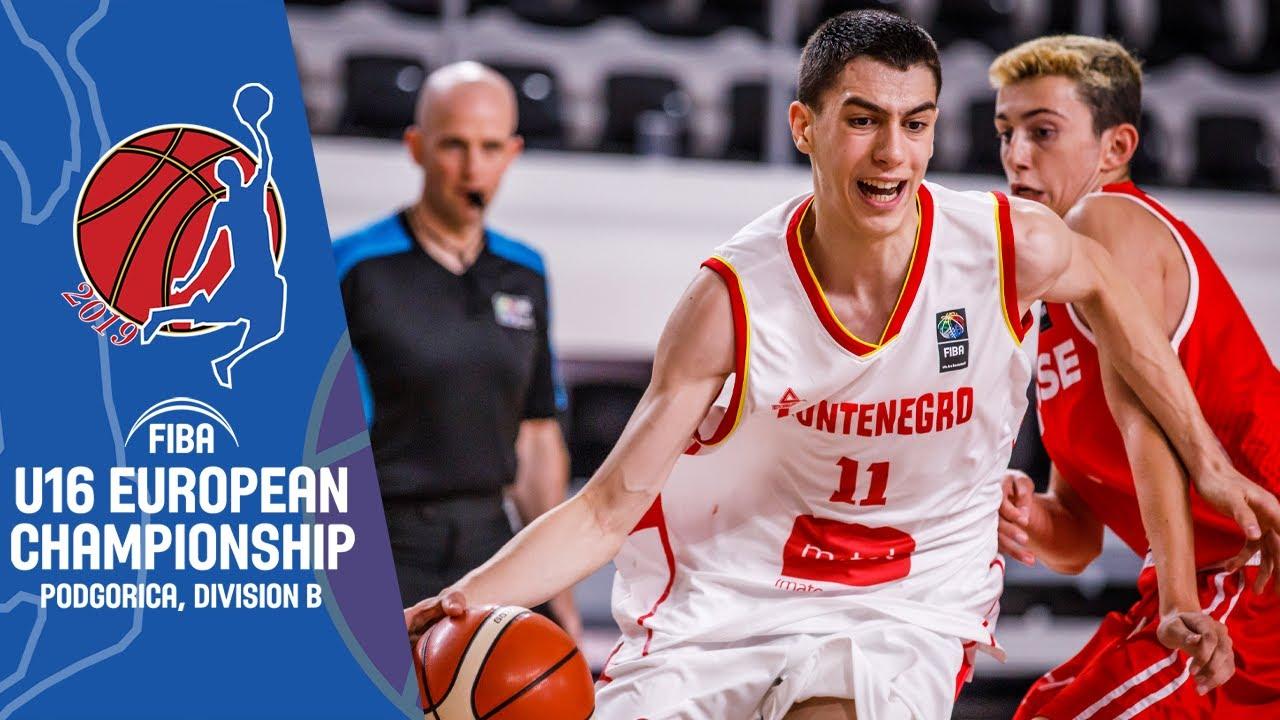 Montenegro v Switzerland - Full Game - FIBA U16 European Championship Division B 2019