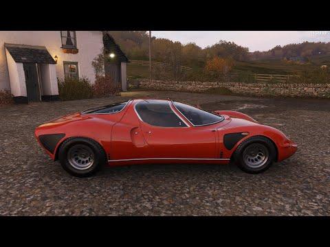 Forza Horizon 4 - 1968 Alfa Romeo 33 Stradale - Car Show Speed Jump Crash Test . 1440p 60fps.