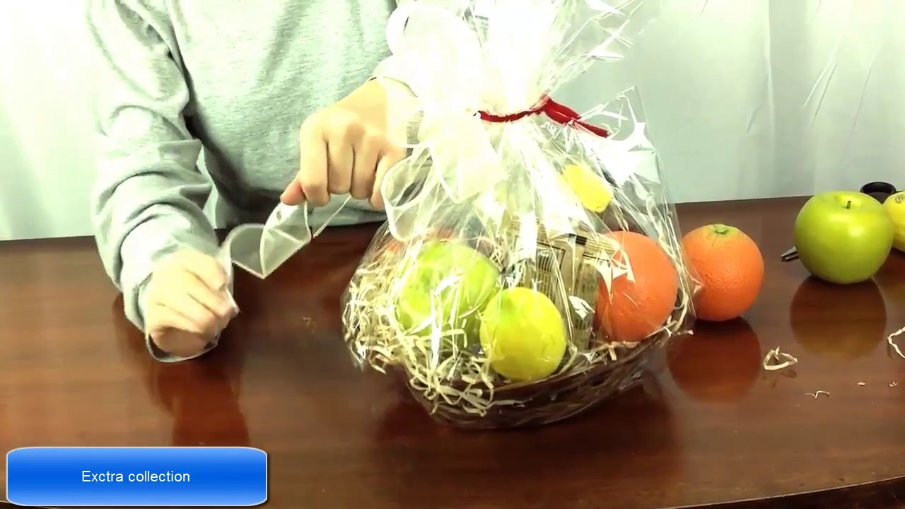How To Make A Fruit Basket../ - YouTube