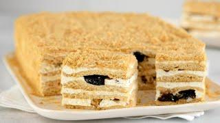 Торт МЕДОВИК без раскатки за 30 минут Вкусный ТОРТ к 8 МАРТА Honey cake recipe
