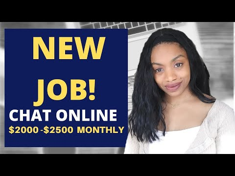 NEW Work At home Chat Job! $2000-$2500 A Month *Application Deadline 12/13!!*