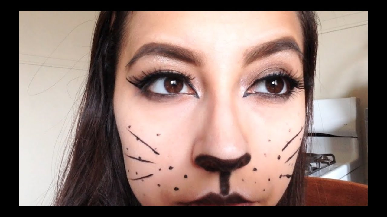 simple cat halloween makeup youtube