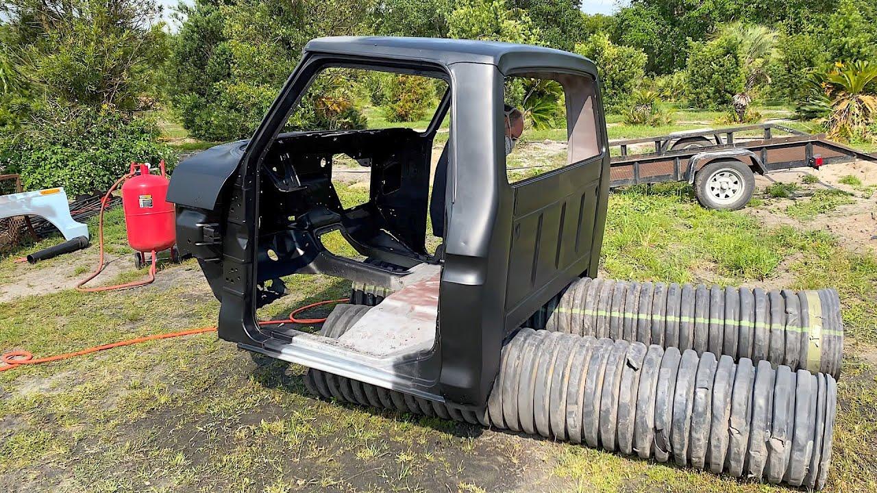 SWAMP DRAGON RESCUE | Epoxy Primer Entire Cab, Restoring a 1974 Ford F250, Resurrection Restoration!