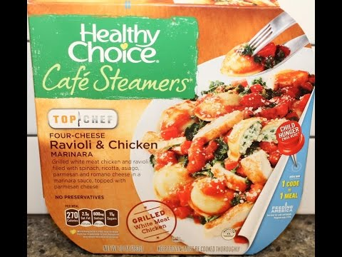 Healthy Choice Café Steamers Top Chef Four-Cheese Ravioli & Chicken Marinara Review