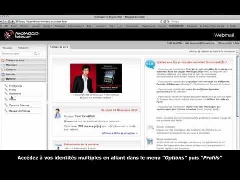 Identités multiples - Webmail Monaco Telecom