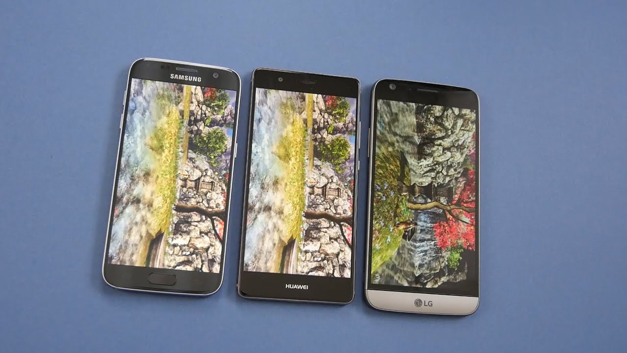 Samsung galaxy s7 vs lg g5 vs apple iphone 6s vs samsung galaxy s6 - Benchmark Samsung Galaxy S7 Vs Huawei P9 Vs Lg G5 Deutsch Youtube