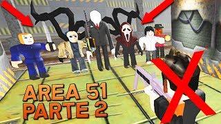 ¡YOUTUBERS VS CREEPYPASTAS! (PARTE 2) ESCAPA DEL ÁREA 51 2.0 | ROBLOX #24