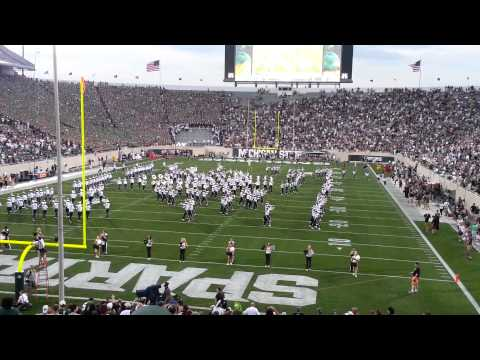 Spartan Marching Band 2013 1st game intro.