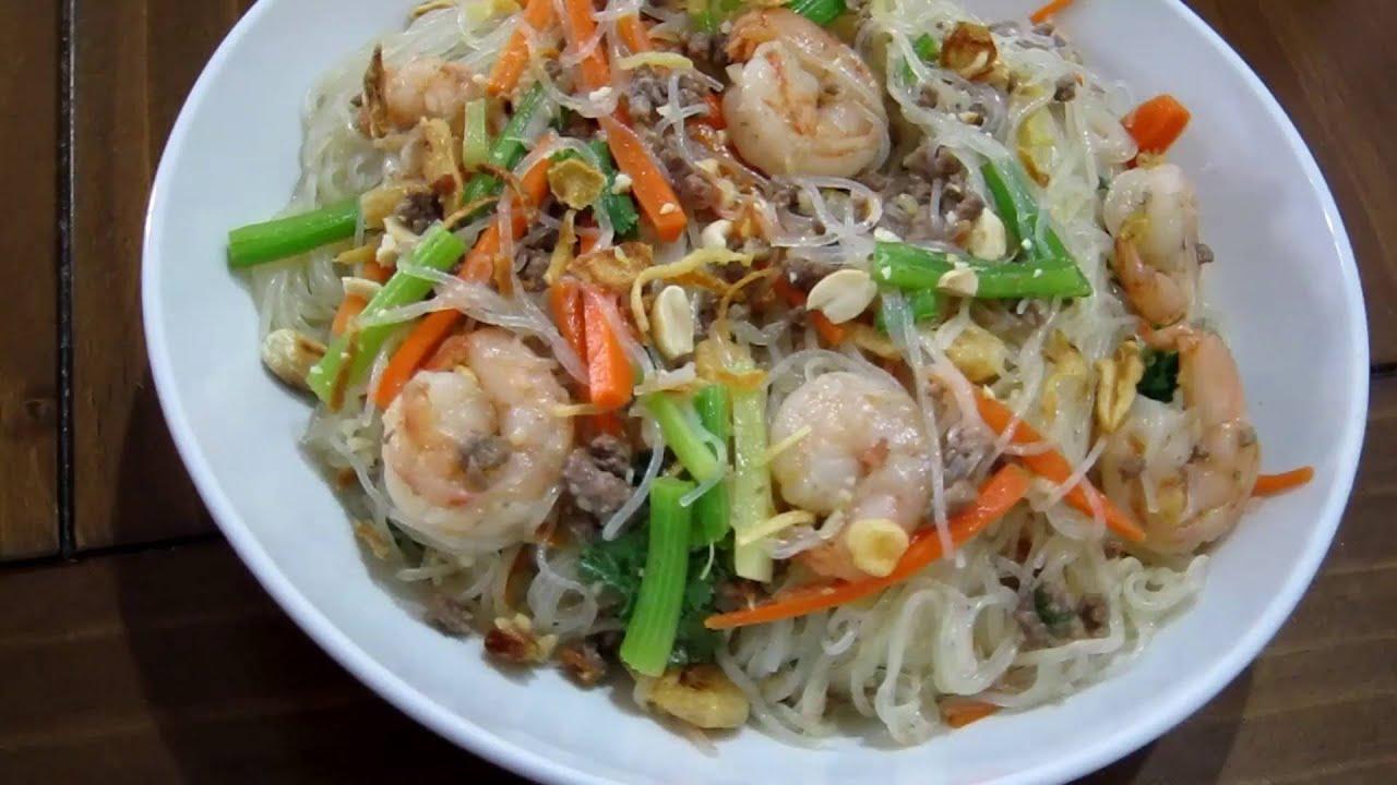 Quick Thai Spicy Bean Thread Noodle Salad Yam Woon Sen Youtube