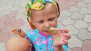 Кукла КАТЯ И Эльвира НА МОРЕ Кукла Катя Беби Борн  Кукла БЕБИ БОН Катя  Игры в куклы для детей