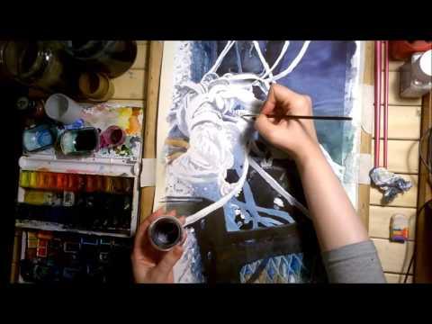 Watercolor Speed Painting - Marine Scene#2