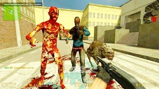 Counter Strike Source - Zombie Horde Mod Online Gameplay on de_wpus_bankparty_v2 map