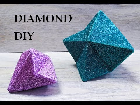 Glitter foam sheet craft ideas. Diamond DIY. DIY Geometric Decor - paper or foam