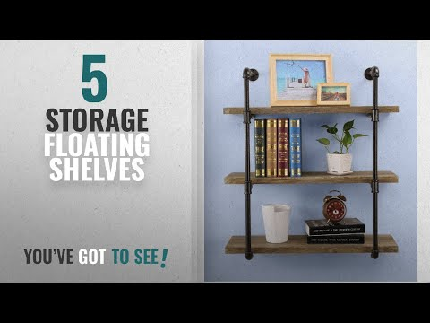 Top 10 Storage Floating Shelves [2018 ]: O&K Furniture 3-Tiers Industrial Pipe Wall Mounted Ledge