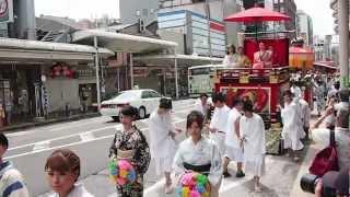京都・祇園祭2012年 花傘巡行(子供神輿、花傘、獅子舞、子鷺など) thumbnail