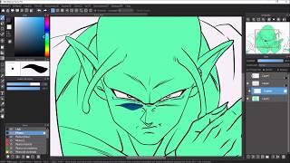 Como Dibujar a GOHAN y PICOLO Dibujo Digital de Dragon Ball Super HUION KAMVAS GT156HD V2