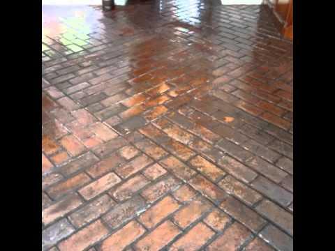 Restaurao de Lajota tijolinho  piso cermico  YouTube