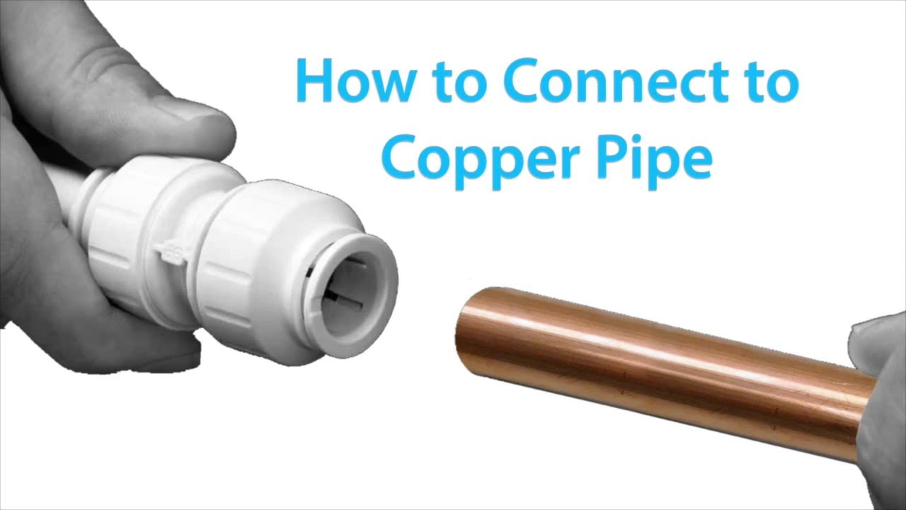 how to connect a john guest twist lock fitting onto copper pipe [ 1280 x 720 Pixel ]