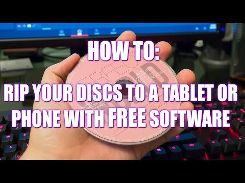 How to: Transfer your DVD's/BD's to a Phone or Tablet with FREE software!