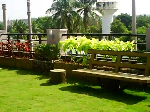 Roof top garden on our house in india youtube for Terrace roof design india