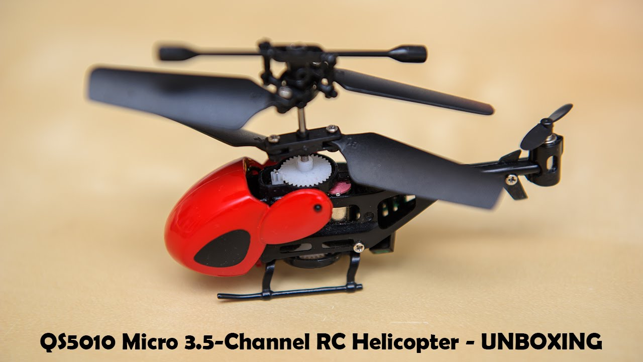 Qs5010 Micro 35 Channel Infrared Remote Control Rc Helicopter With 5 Radio Gyroscope Unboxing
