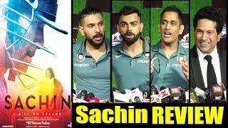 Indian Cricket Teams Raction On Sachin Movie   MS Dhoni,Virat Kohli,Yuvraj Singh,R Ashwin