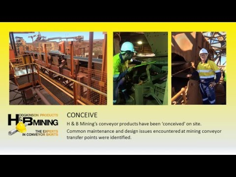 H & B Mining Design & Fabricate full-scale Conveyor Product Model