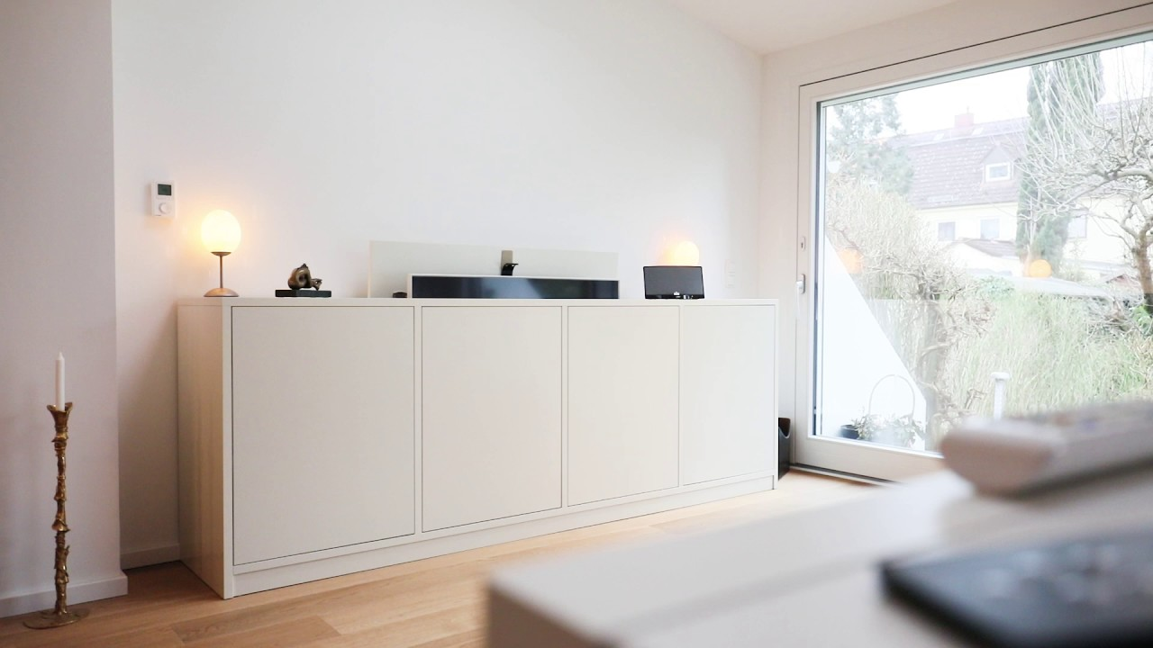 Sideboard Tv Lift wohntipps: sideboard mit tv-lift - youtube