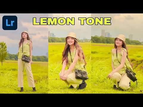 Lightroom Tutorial Lemon Tone Preset | Free Preset Lightroom | Lightroom - Editing - Tutorial