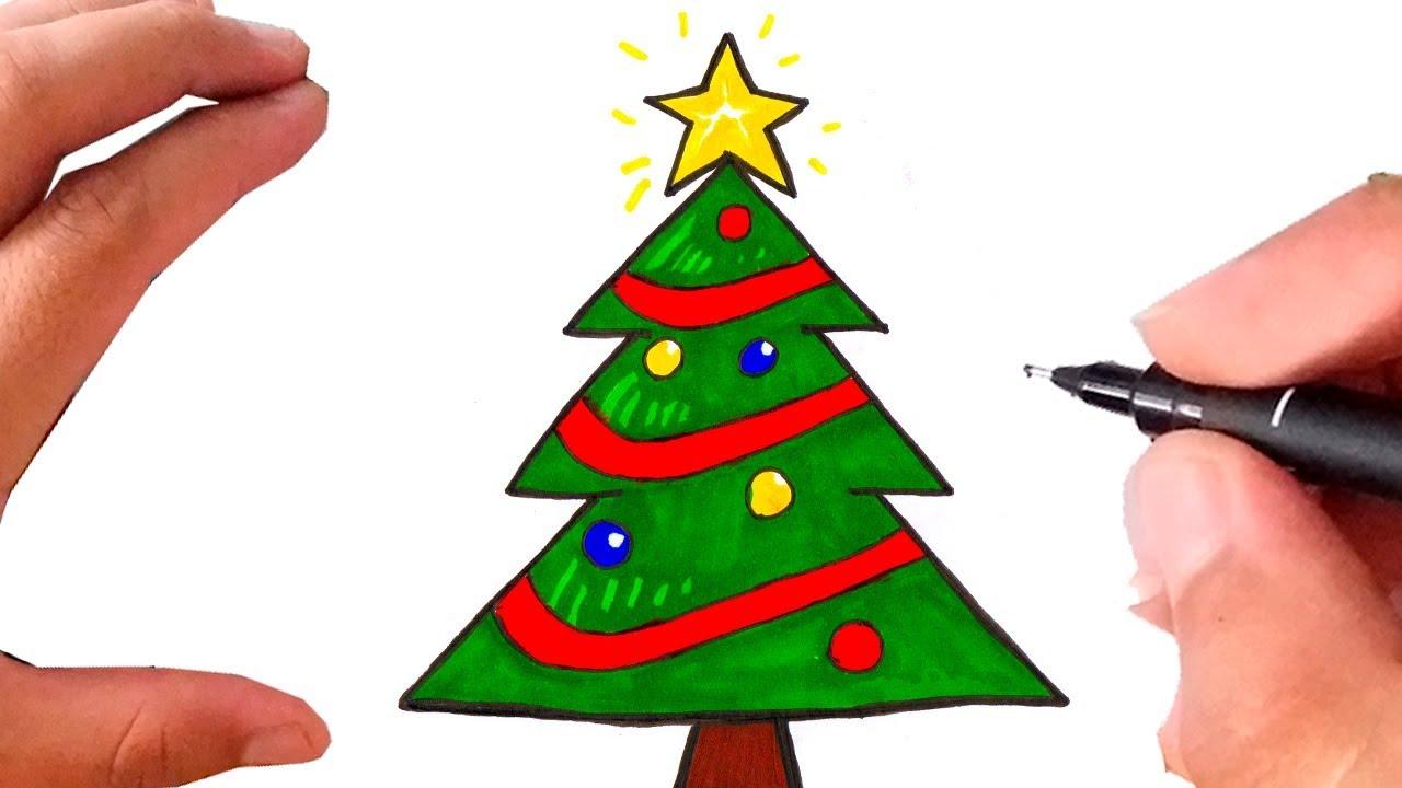 Como Desenhar Arvore De Natal Youtube