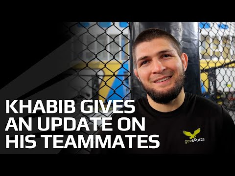 'It'll be a busy month for my teammates' - Khabib Nurmagomedov pops in for a training session