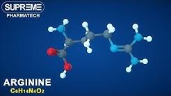 Arginine | C6H14N4O2 | 3D molecule