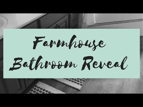 Farmhouse Bathroom Reveal    Budget Friendly    Under 300.00    Hobby Lobby