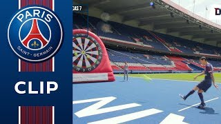 FOOT DARTS CHALLENGE: ANGEL DI MARIA vs LUCAS