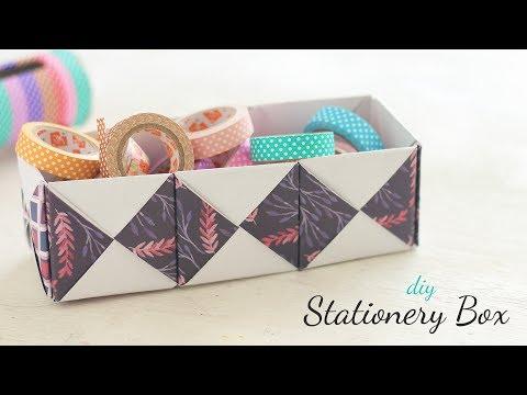 DIY Stationery Box | Desk Decor | Paper Craft