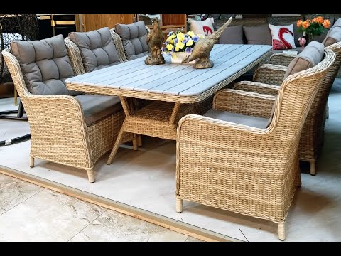 Плетеная мебель из ротанга. Видео обзор шикарной дачной мебели в преддверии садового сезона!