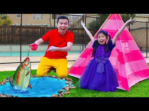 Wendy Pretend Play Camping & Fishing Adventure With Liam