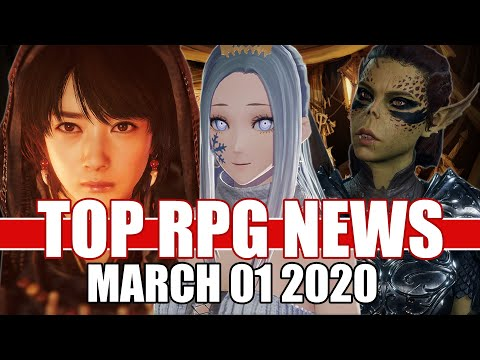 Top RPG News Of The Week - Mar 01, 2020 (Baldur's Gate 3, Nioh 2, Code Vein)
