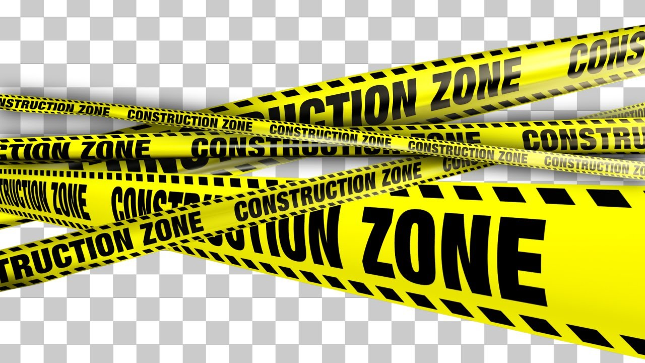 yellow construction zone boundry tape 5 videos youtube
