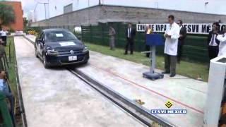 Bolsas de aire en acción por choque de auto