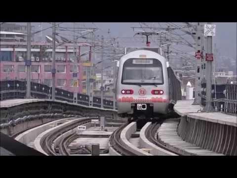 Dazzling Jaipur Metro Train Terminating at Mansarover Metro Station !!!